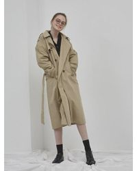 NUISSUE - Oversize Trench Coat Beige.ver2 - Lyst