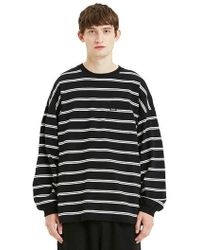 LIFUL MINIMAL GARMENTS - Minimal Striped Long Sleeve Black - Lyst
