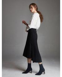 OUAHSOMMET - Sunray Pleated Skirt_black - Lyst