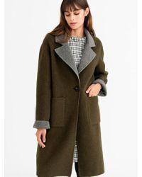 Petite Studio - Rylie Coat Olive Grey - Lyst