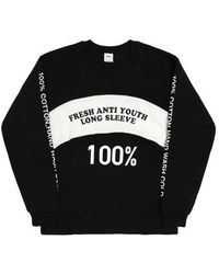 FRESH ANTI YOUTH - F1-jersey Top - Black - Lyst