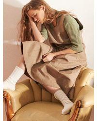 W Concept - Via April Button Dress - Lyst
