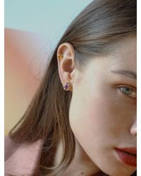 W Concept - Melting Square Earring - Lyst