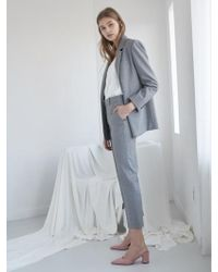 NILBY P - 18sn Suit Trousers Gy - Lyst