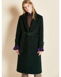 Clue de Clare - Belted Single Coat Green - Lyst