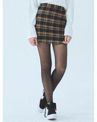 MIGNONNEUF - Crush Pocket Mini Skirt Check Indigo - Lyst