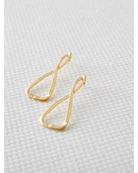 W Concept - Eternal Triangle Earring [medium] - Lyst