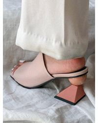 2a04addae61c Lyst - Tory Burch Lowell Patent Peep-toe Mid-heel Wedge in Pink