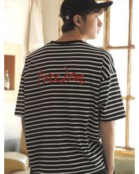 Chubasco - M T Shirt Of Stripe Black M17109[unisex] - Lyst