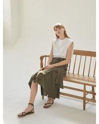 NILBY P - Cotton A-line Wrap Skirt [ka] - Lyst