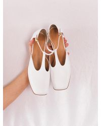 W Concept - Middle T-strap Ivory - Lyst