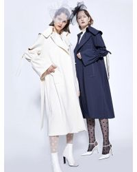 W Concept - Puff Trench Coat - Lyst