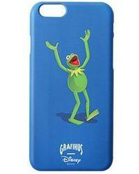 W Concept - Kermit Hands Up Iphone Case Blue - Lyst
