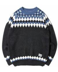 SAINTPAIN - [unisex]sp Toms Nordic Kint Sweater Black - Lyst
