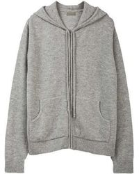 MADGOAT - Textured Cashmere Zip-up_gray - Lyst