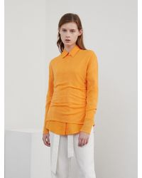 among A See-through Knit Orange