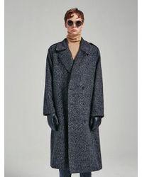 YAN13 - Normal Double Button Coat Bokashi Gray - Lyst