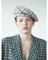 Awesome Needs - [unisex] Classic Beret_check Grey - Lyst