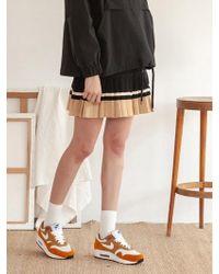 TARGETTO - Pleats Knit Skirt Black - Lyst