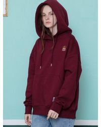 CANLEAP - [unisex] 1st Schedul Over Fit Hood Burgundy - Lyst