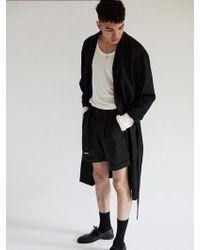 W Concept | Belted Half Twotuck Pants Black | Lyst