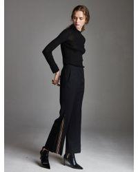 OUAHSOMMET - Wool Peekaboo Suit-track Pants_black - Lyst