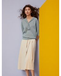Aheit - Cashmere Blend Pullover Glaucous Green - Lyst