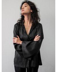 W Concept - Shy Maison Pj Shirt - French Black - Lyst
