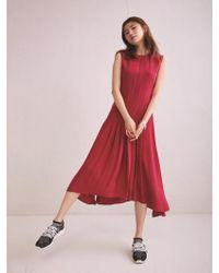 Aheit - Flow Pleated Fuchsia Dress - Lyst