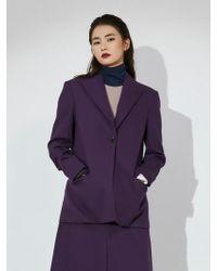 Aheit - Single Breasted Jacket Purple - Lyst