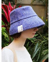 SLEEPYSLIP - Canvas Blue Bucket Hat - Lyst