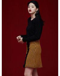 Grace Raiment - Stripe Knit Skirt - Lyst