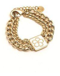 Vert Berry - Sakura Blossom Chain Bracelet_white - Lyst