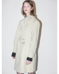 Bouton - Tied Trench Coat-beige - Lyst