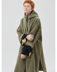 W Concept - Megan Loose Fit Hood Coat - Lyst