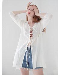 W Concept - Cotton Robe_white - Lyst