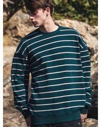 F.ILLUMINATE - [unisex] Pin Border Sweat Shirt Green - Lyst