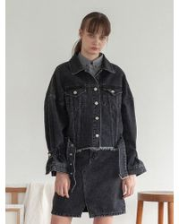 TARGETTO - Oversize Denim Jacket Black - Lyst