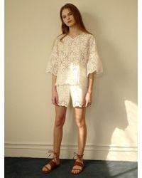 among - A Lace Shorts - Lyst