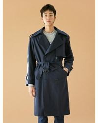 BONNIE&BLANCHE - [unisex] Windy Trench Coat Navy - Lyst