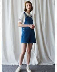 W Concept - Ma Short Overall Blue - Lyst