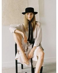 Awesome Needs - Lambs Wool Boater Hat_black_face Ribbon - Lyst