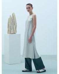 W Concept - Side Slit Dress Ivory - Lyst