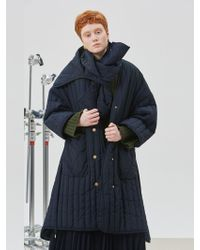 W Concept - Oriental Padded Coat - Lyst