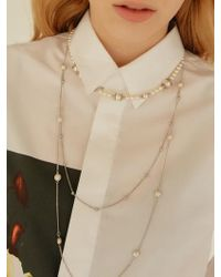 Matias - Layered Pearl Necklace - Lyst