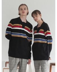 TARGETTO - [unisex] Stripe Knit Pique Black - Lyst