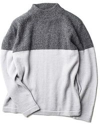 Still By Hand - 2 Tone Pullover Knit Grey - Lyst