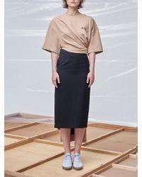 Fleamadonna - Long Back Pleats Skirt - Lyst