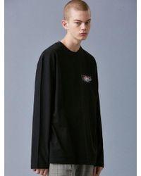 VOIEBIT - V341 Graffiti Long-sleeved_black - Lyst