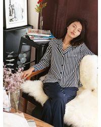 W Concept - Very Pyjama Shirt_navy Stripe - Lyst